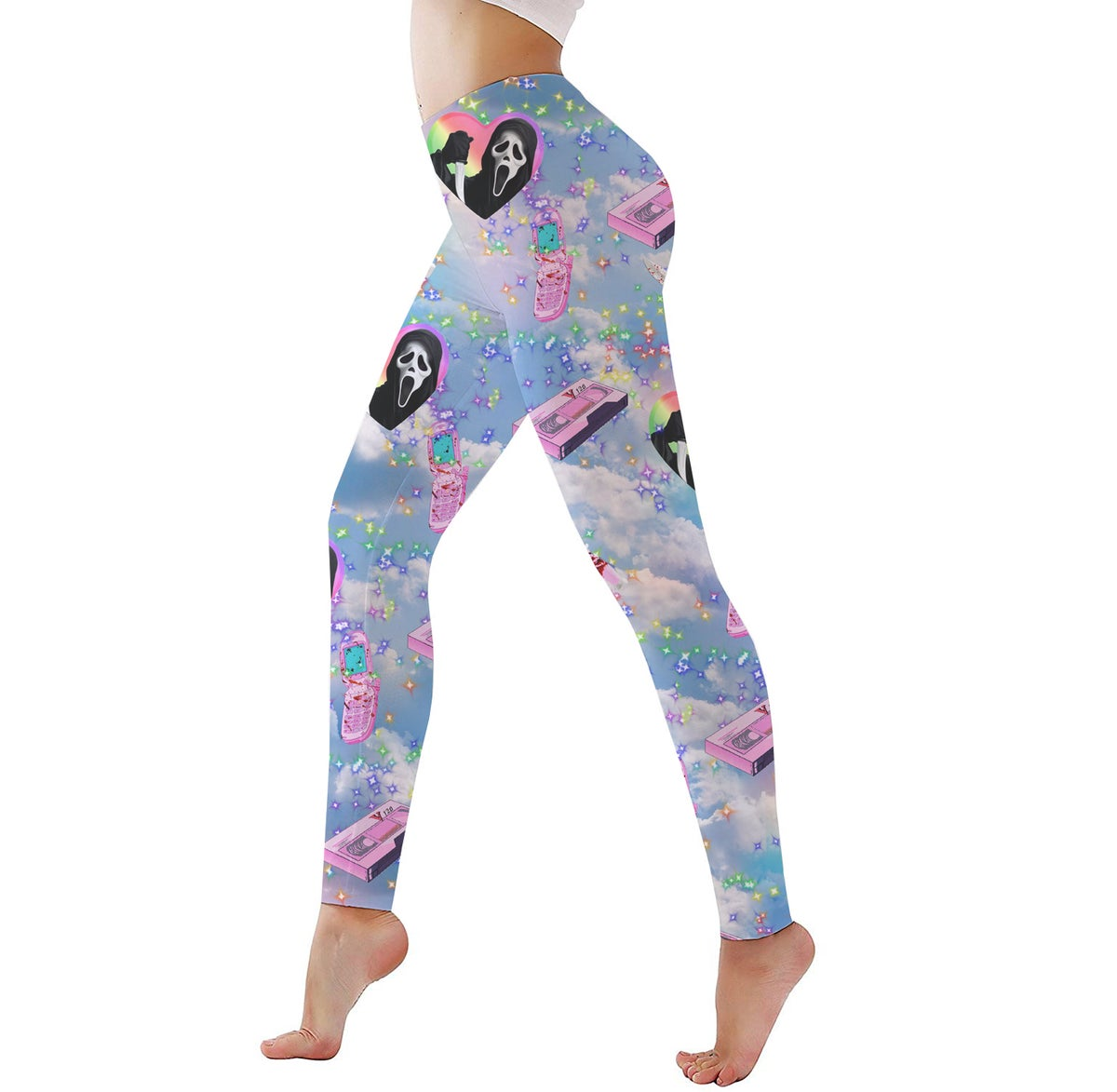 Image of Kawaii Ghostface Activewear Limited Edition PREORDER