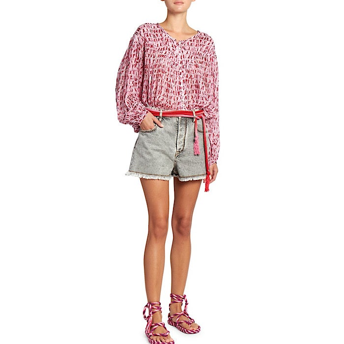Image of ISABEL MARANT ÉTOILE SORIONEA BLOUSE RED