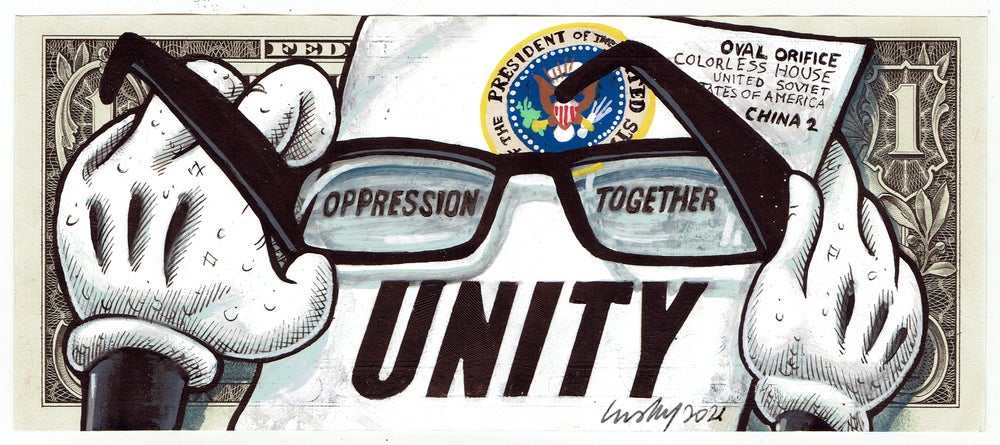 Image of Real Dollar Original. Unity Impunity.