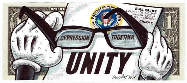 Image of Real Dollar Original. Unity Impunity.