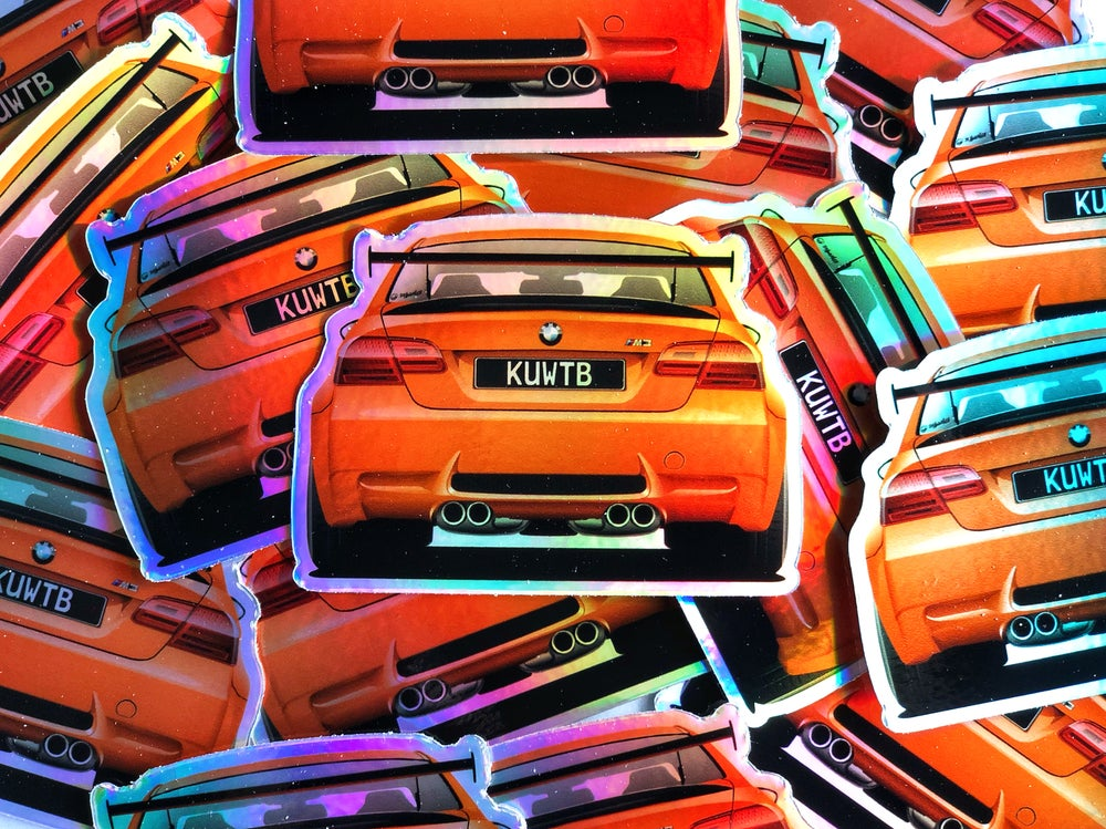 Image of M3 GTS Holographic Diecut Sticker