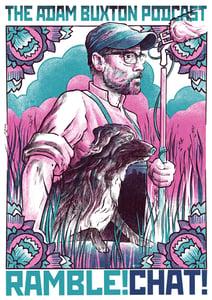 Image of Adam Buxton 'Rambl-aganda' Poster / Print - Pink Variant