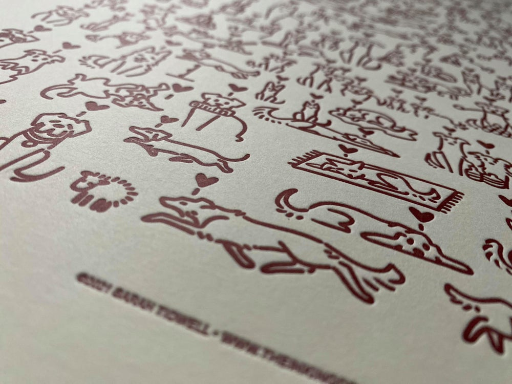 Image of 'Must Love Dogs' - 2021 Limited Edition Letterpress