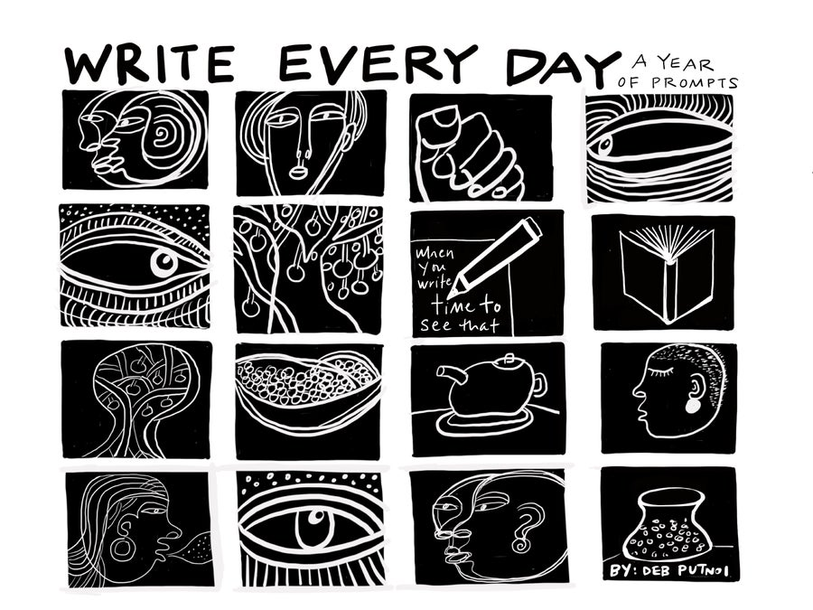 "Image of ""Write Every Day"" Perpetual Calendar PDF download"
