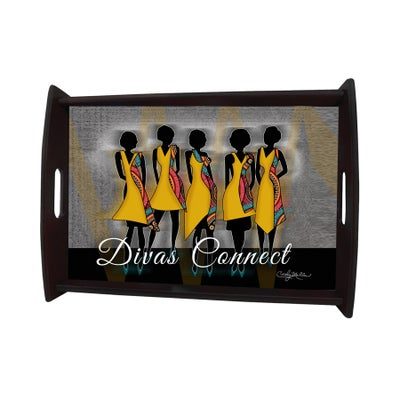 Image of Custom Serving Tray (Black Natural Wood)