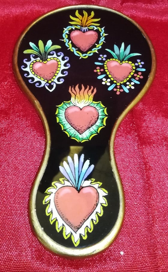 Image of  Milagro Hearts hand mirror