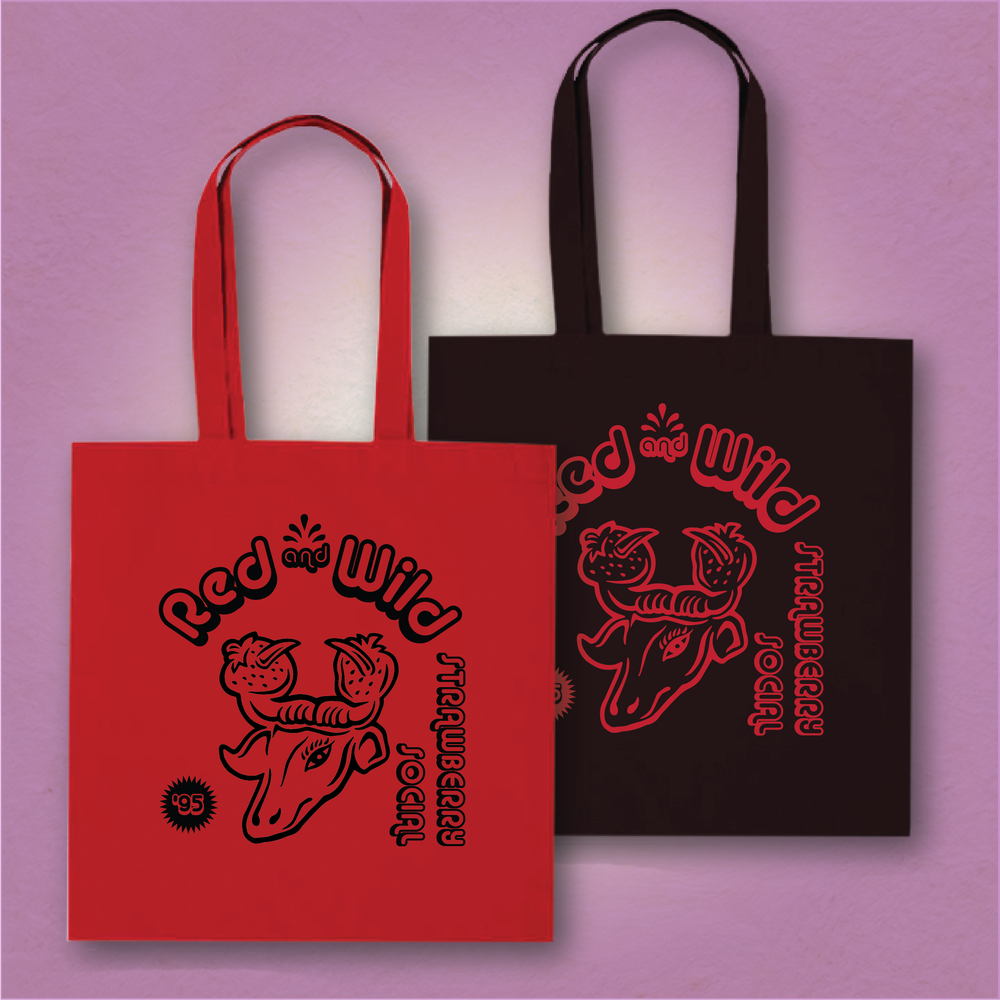 Red and Wild Tote Bag