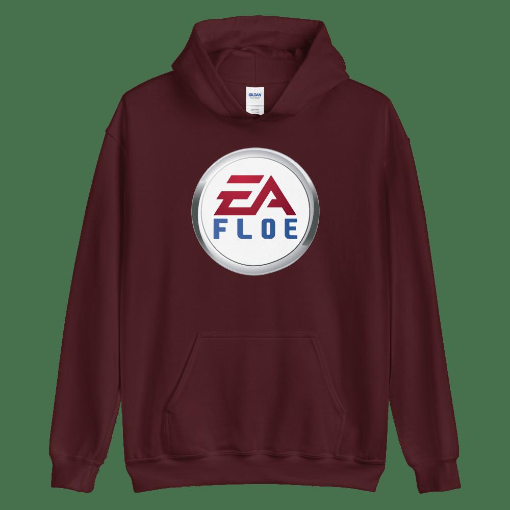 Image of EA Floe Logo Hoodie (Maroon)