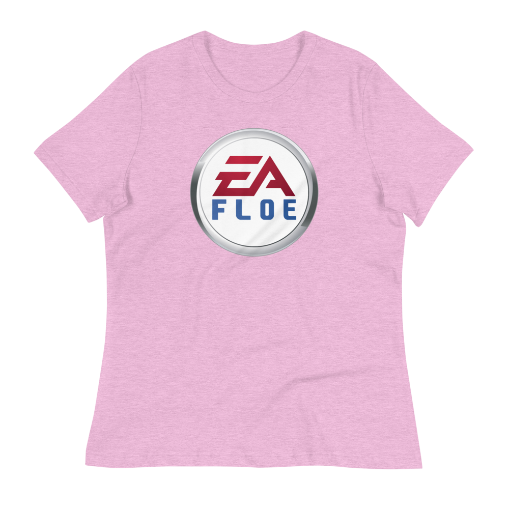 Image of Women's EA Floe Logo Relaxed T-Shirt (Heather Prism Lilac)