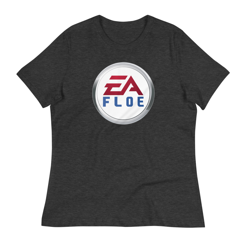 Image of Women's EA Floe Logo Relaxed T-Shirt (Dark Grey Heather)