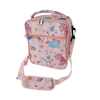 LARGE insulated lunch bag - magical unicorns pink