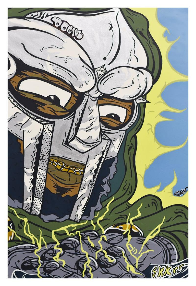 Image of Mf Doom Tribute Painting (Print)