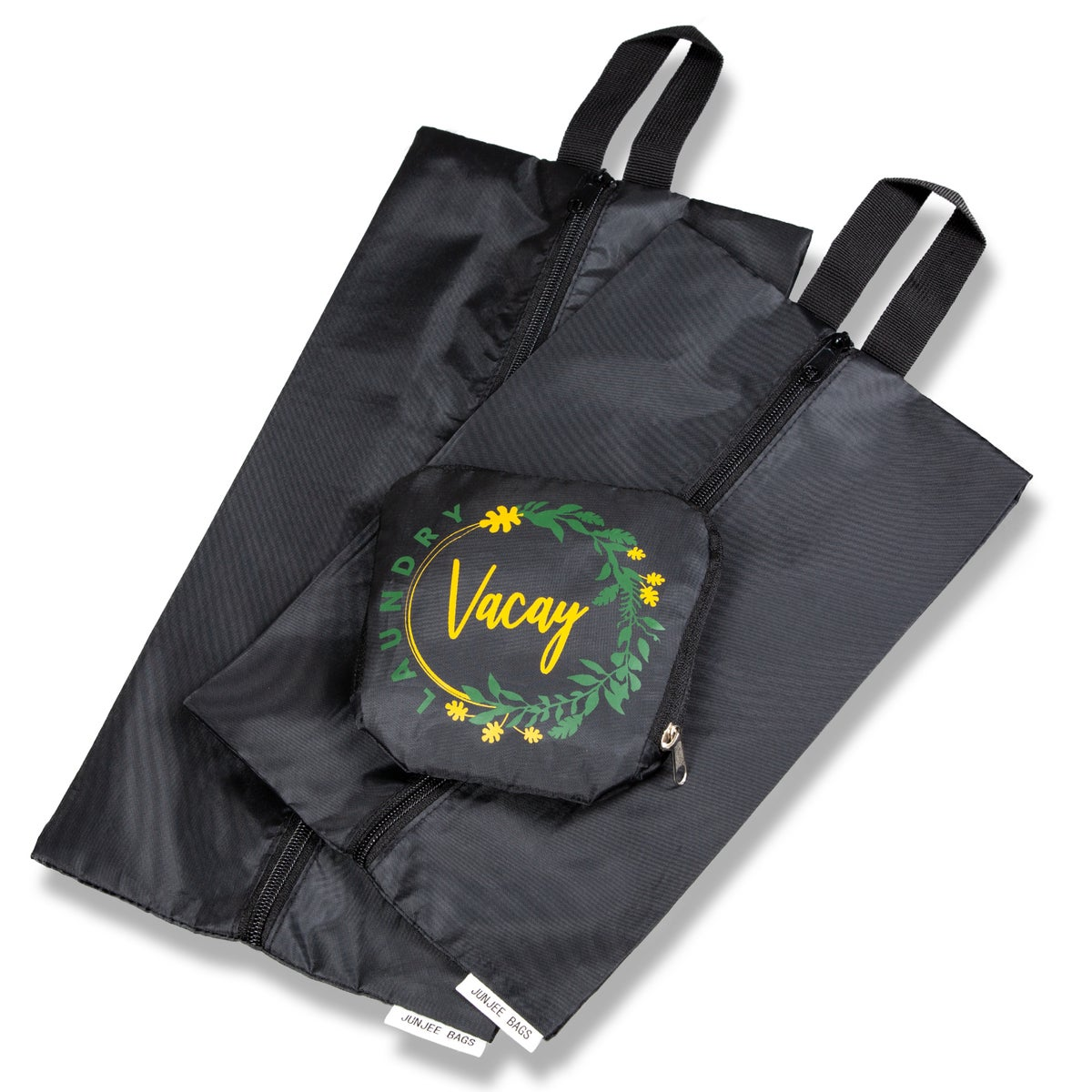 Travel Laundry Bag and Bonus Set of Two Shoe Bag/Pouch
