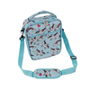 LARGE insulated lunch bag - unicorns blue