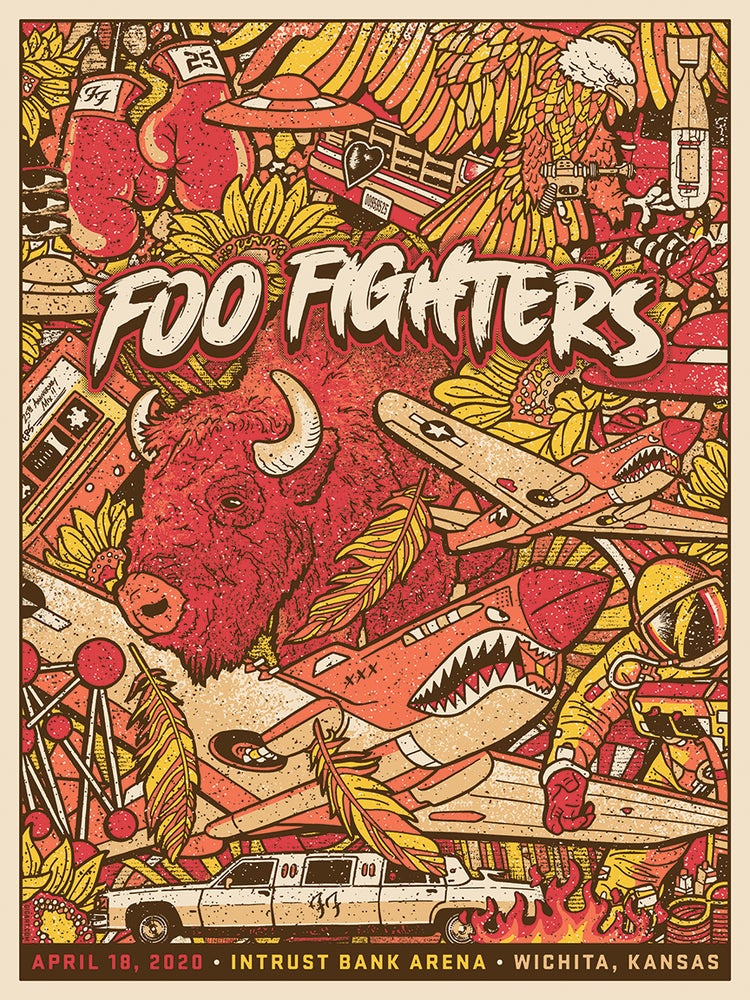 Image of Foo Fighters Wichita 2020 Main Show