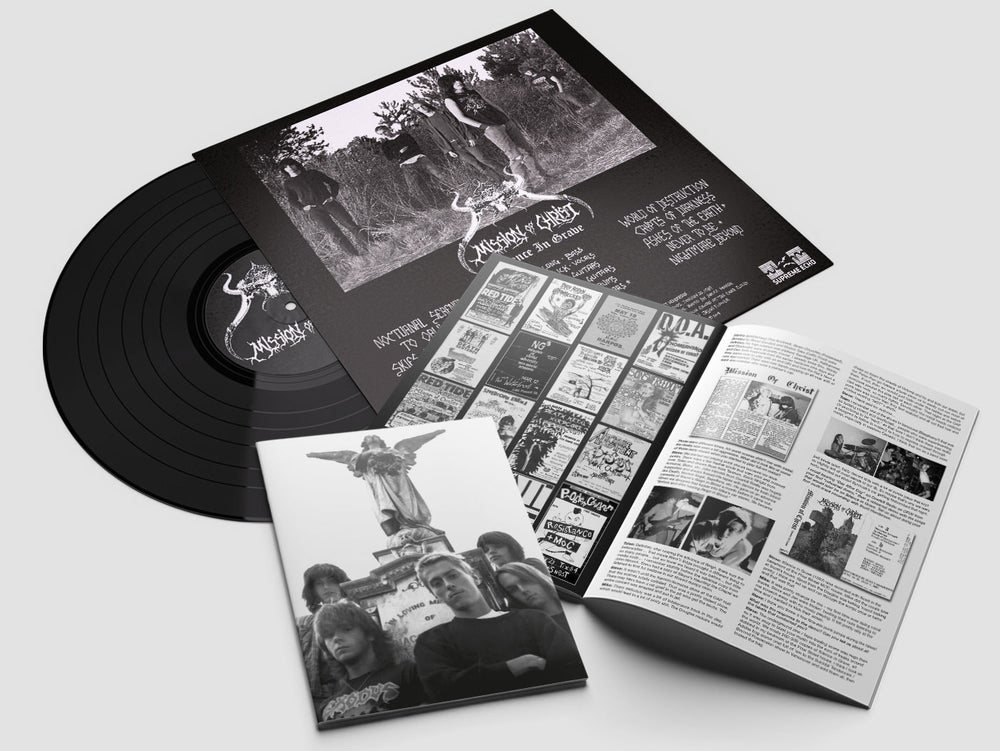"""Image of MISSION OF CHRIST - """"SILENCE IN GRAVE"""" LP (1987-89) + """"REALMS OF EVIL"""" 7"""" flexi EP (1986)"""