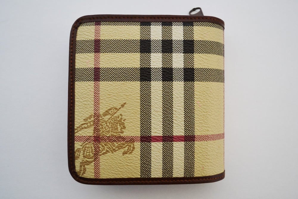 Image of Vintage 1980's Burberry's of London Plaid Check Wallet (Women's)