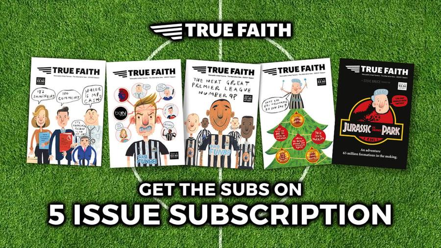 Image of 5 x DIGITAL ISSUE SUBCRIPTION OF TRUE FAITH NEWCASTLE UNITED FANZINE