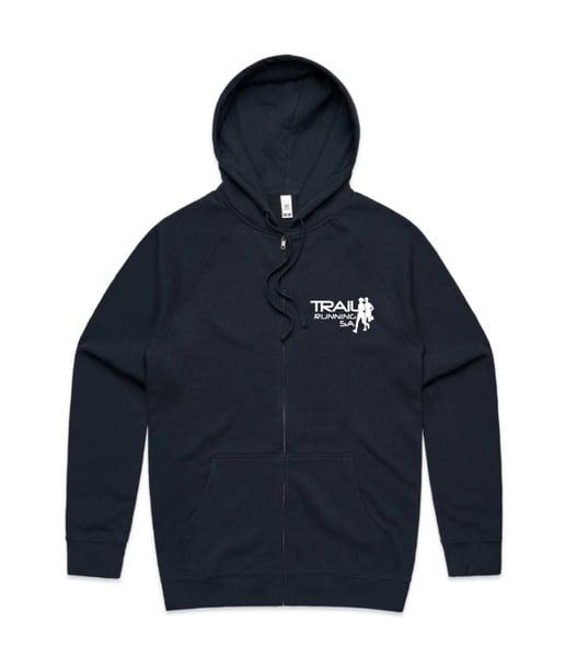 Image of Unisex Zip Hoodie - Navy