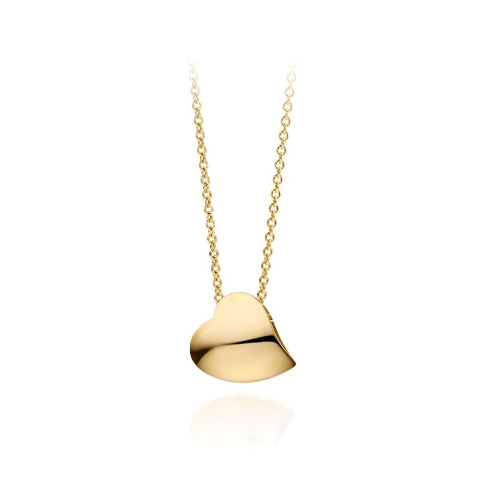 Image of hartjes ketting  'hart onder de riem' goud / necklace 'Je te donne mon cœur' gold