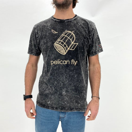 Image of Pelican Fly T-Shirt (Cage Logo cream)