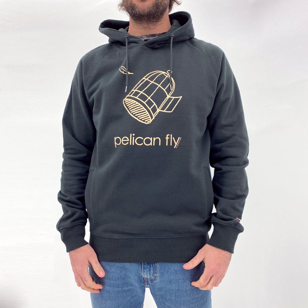 Image of Pelican Fly Hoodie (Cage Logo cream)