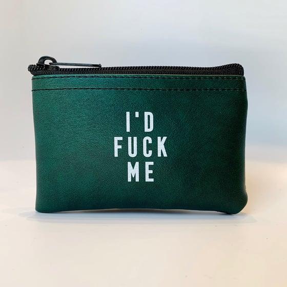 Image of I'd Fuck Me Vinyl zip pouch
