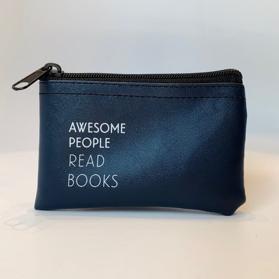 Image of Awesome People Read Books zip pouch