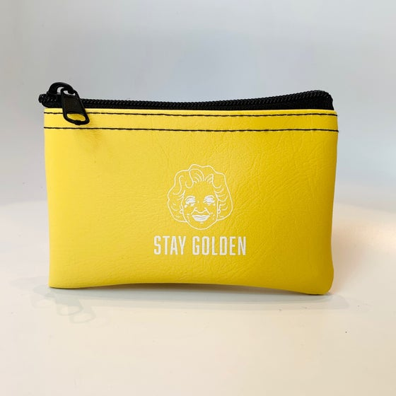 Image of Stay Golden - Betty White zip pouch