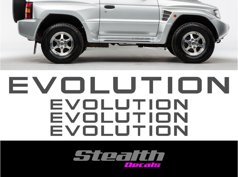 Image of Mitsubishi Pajero Evolution Sticker set.