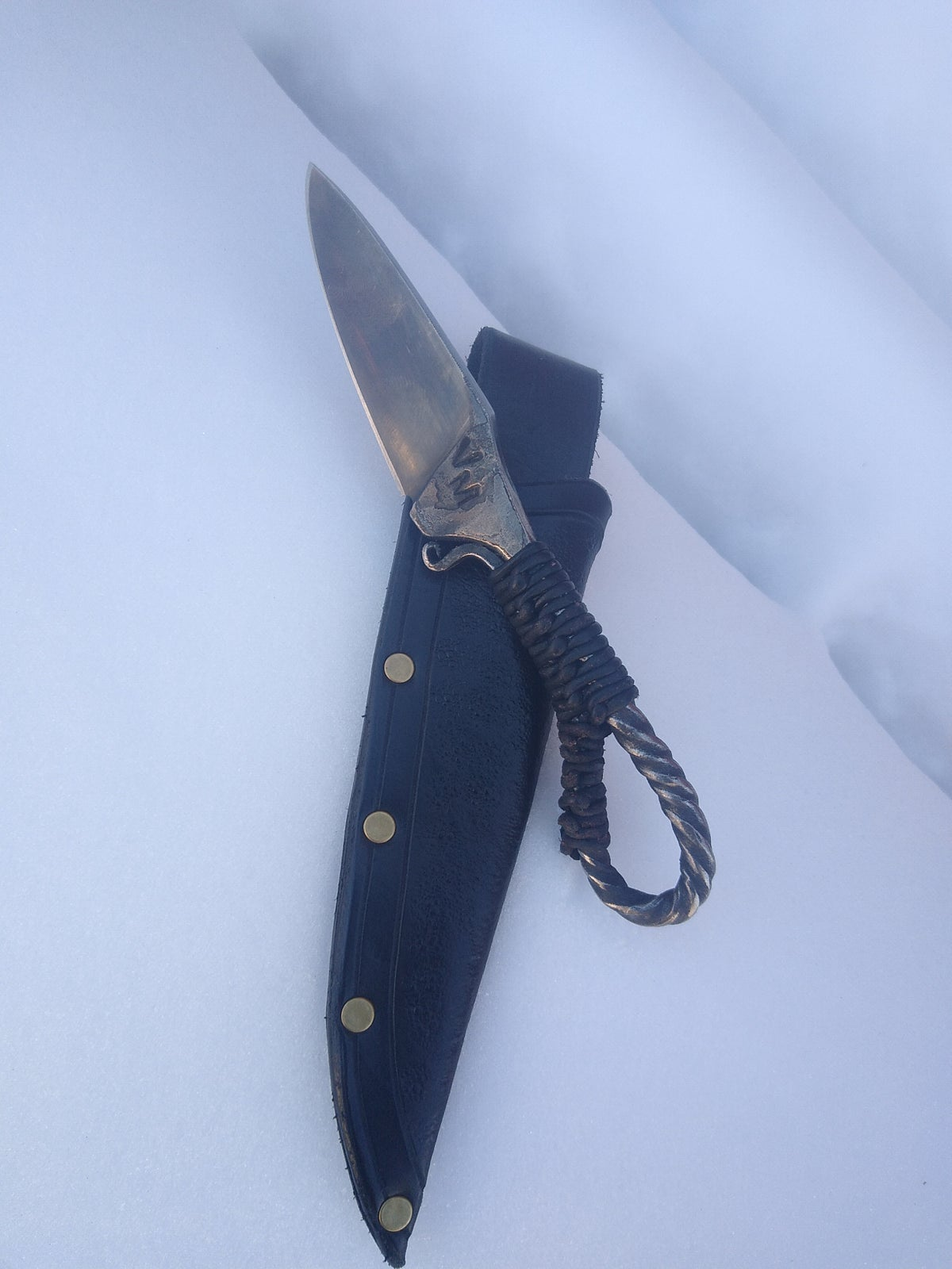 Image of Hand forged boot style primitive knife
