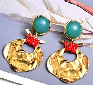 Image of Gold medal earrings