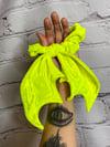 Amarillo Pollito Bat Wing Scrunchie