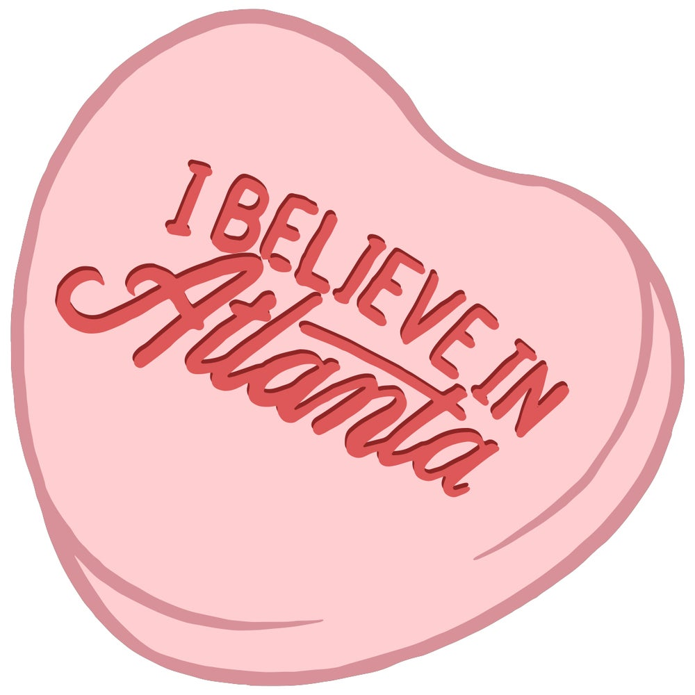 Image of IBA Candy Hearts Be Free Tonight... Sticker.