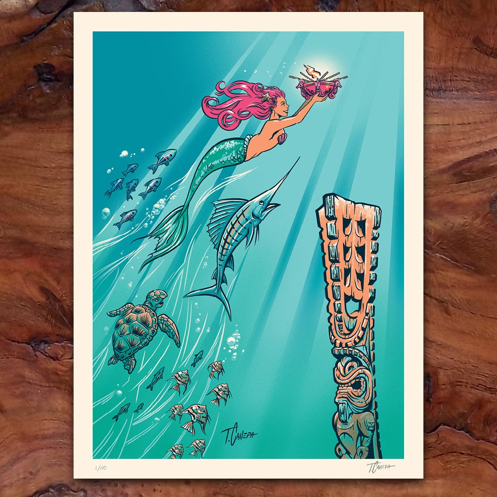 Image of Hidden Harbor 5th Anniversary Limited Edition Serigraph Print