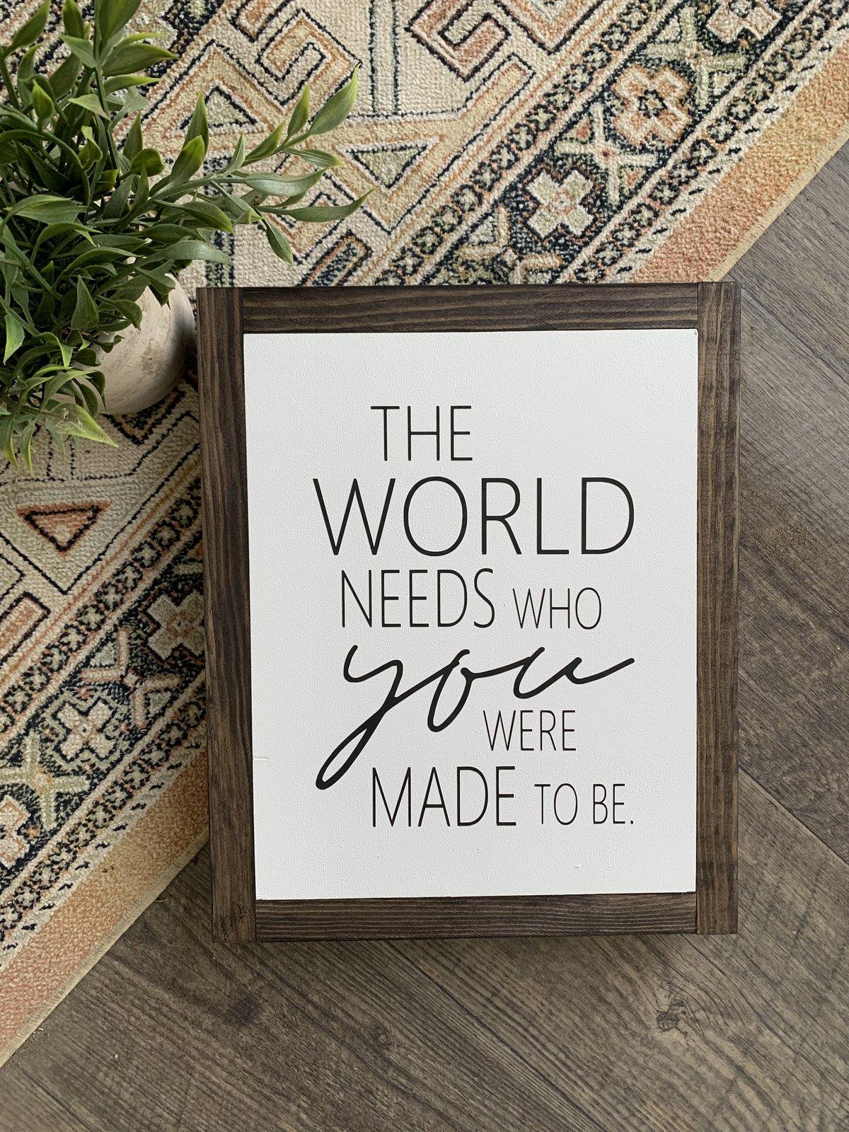 Image of The World Needs