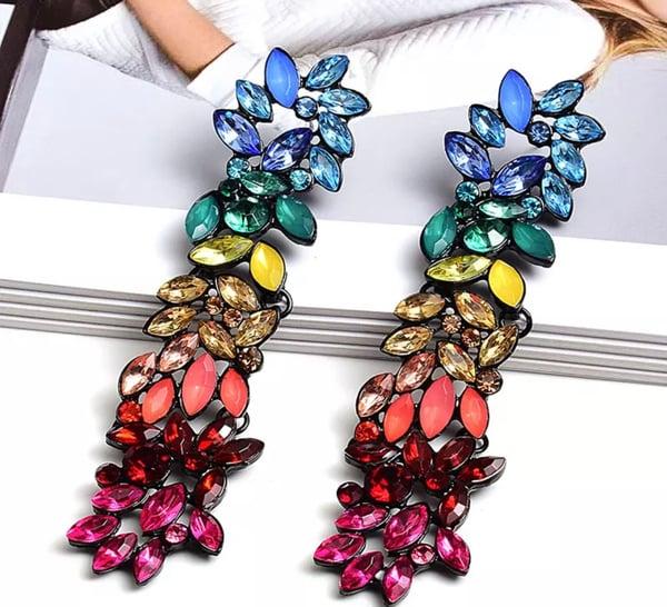 Image of Long drop earrings