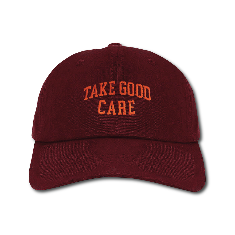 "Image of TAKEGOODCARE™ ""TGC COLLEGE"" CAP WINE"