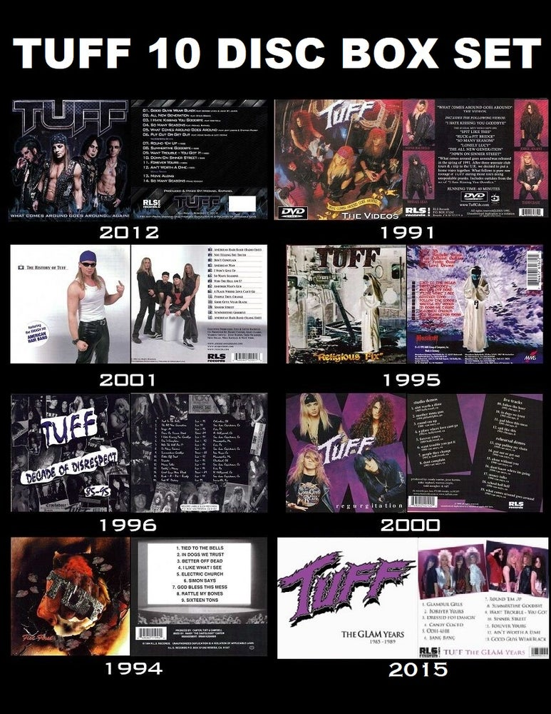 Image of TUFF Stevie Rachelle 10 Disc Box Set GLAM Hairbands Crue Poison Ratt Skid Row