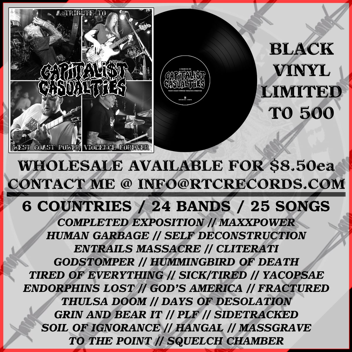 Image of PRE-ORDER - A Tribute To Capitalist Casualties: West Coast Power Violence Forever LP
