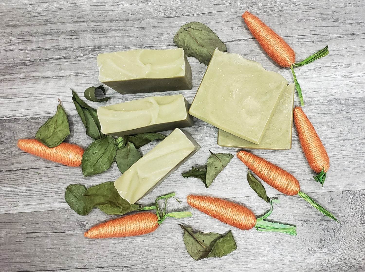 Image of CARROT AND SPINACH SUPER FOODS COLD PROCESS SOAP
