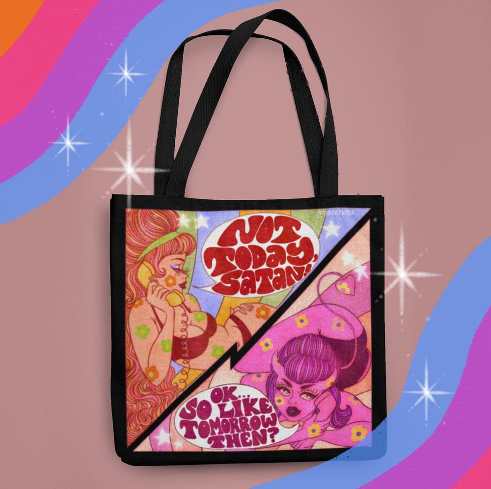 Image of NOT TODAY SATAN TOTE