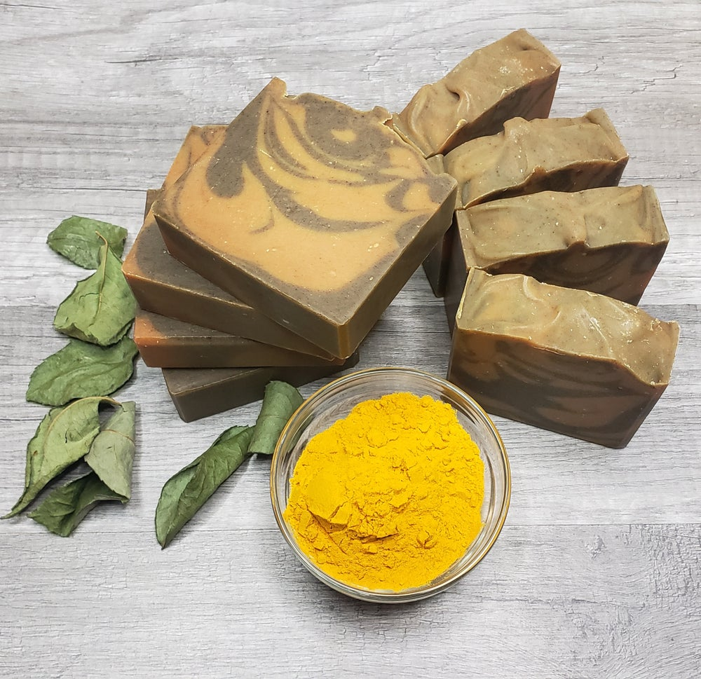 Image of TURMERIC AND NEEM SUPER FOODS COLD PROCESS SOAP