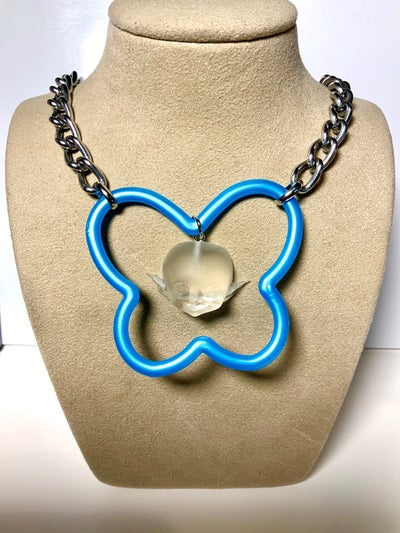 Image of Blue Butterfly Ghost Necklace