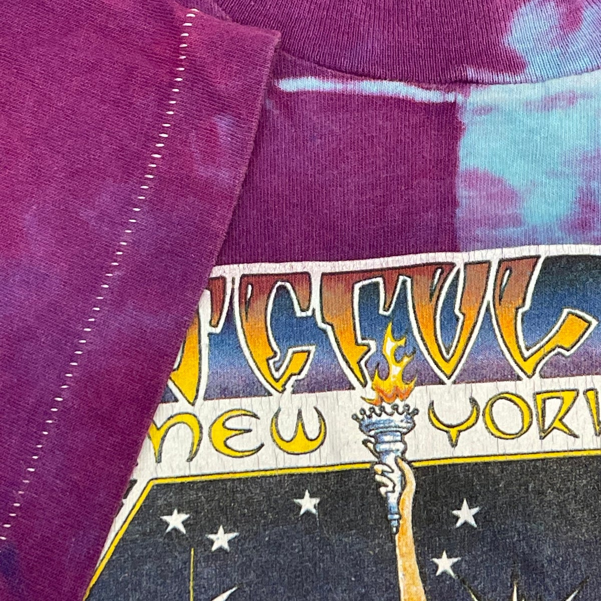 Original Rare Vintage Grateful Dead NYC MSG 80's Mikio Kennedy Dye! Large!