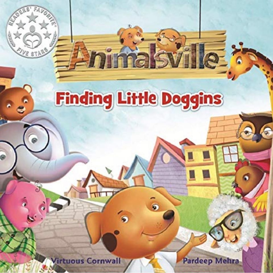 Image of Animalsville Finding Little Doggins (Autographed Hardcopy with activity sheets)