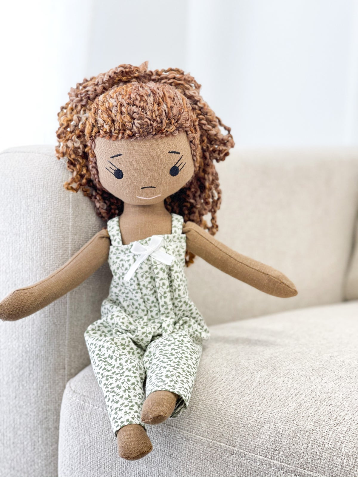 Luna Handmade Linen Doll (SHIP DATE: ON OR BEFORE MARCH 15TH)
