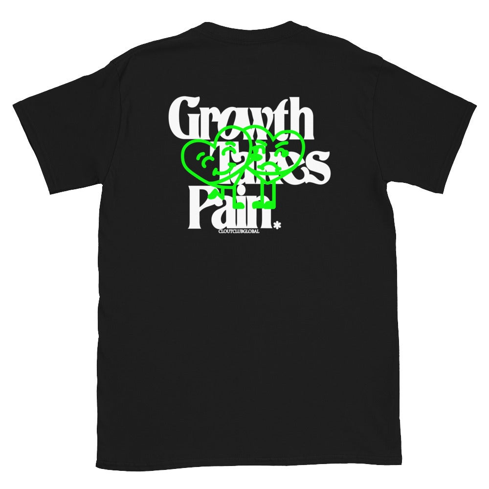 Image of 'Growth Takes Pain' Tee (Black & Neon Green)