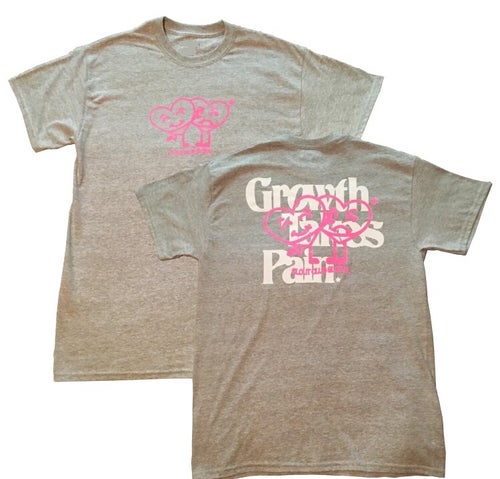 Image of 'Growth Takes Pain' Tee (Grey & Pink)
