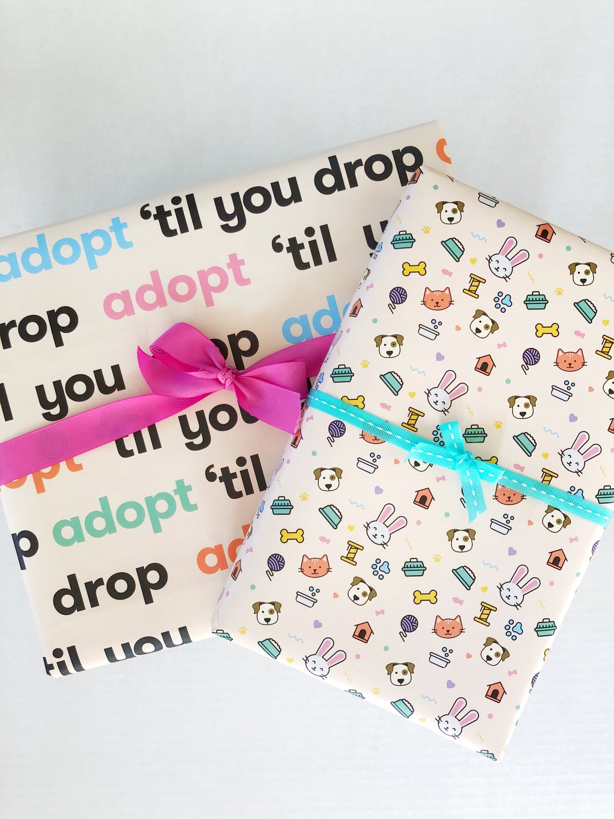 """Image of """"Adopt 'Til You Drop"""" Wrapping Paper Sheets"""